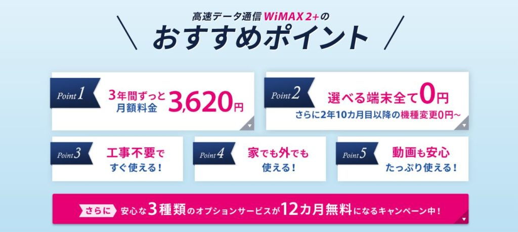 So-net WiMAXのメリット
