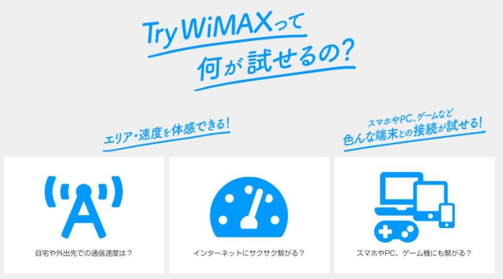 Try WiMAXでできること