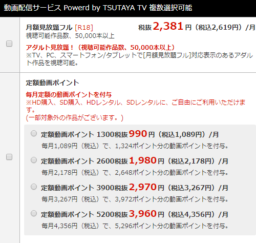 TSUTAYA TV 解約方法 チェック表